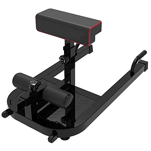 Home Gym Gewichtheben Bank, Ab Trainer Core-Trimmer 100kg Einstellbare Höhe Strength Training Board Sit Up Ausrüstung Gewicht Kapazität (Color : Black, Size : 95x50x72cm)