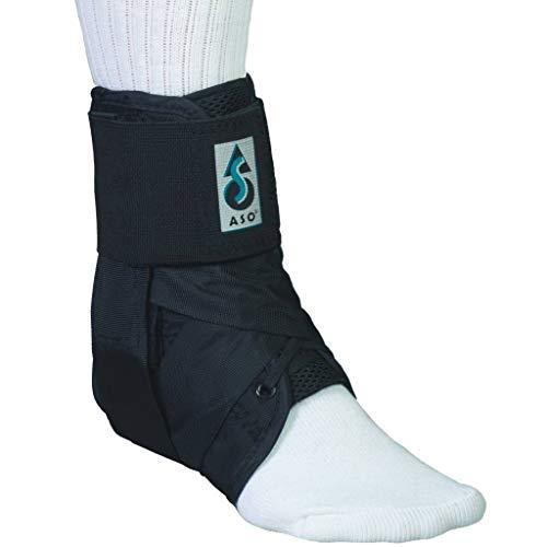 Basko ASO Fußbandage mit Klettverschluss | Schwarz | Größe L | 33 - 35,5cm Umfang für Schuhgröße 44 - 46 | Sprunggelenkbandage für schwere Verstauchungen | Knöchelbandage ideal für Sport