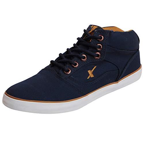Sparx Men's Navy Blue and Tan Sneakers - 10 UK/India (44.67 EU)(SC-282)