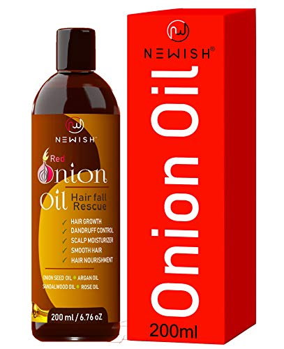 Newish® Red Onion Hair Oil for Hair Growth for Women & Men, 200ml