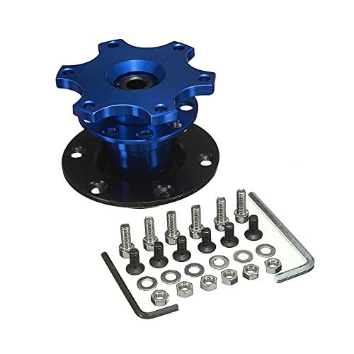 Qinglan ZHJHUA Rueda de Aluminio Universal del Volante de Lanzamiento rápido HUB Kit Kit HUB DE LA Rueda Adaptador CA0011-BL FIT para EL HUB DE LA Rueda DE 6 Agua (Color : Blue)