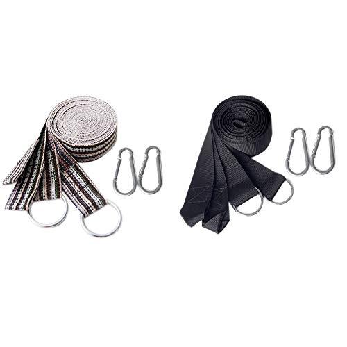tellaLuna Cuerda de hamaca para acampar, hamaca para árbol, accesorios para yoga, columpio para colgar, cinturón de extensión, sistema de suspensión