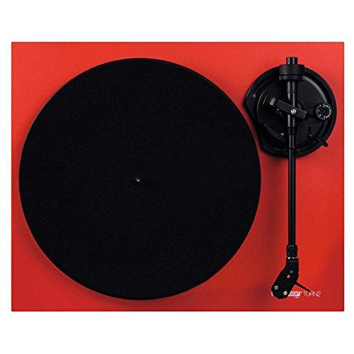Reloop Turn 2 – Riemenangetriebener analoger HiFi Plattenspieler (33/45 RPM) mit geradem Tonarm, Ortofon OM10 Tonabnehmersystem, druckgegossener Aluminium-Plattenteller