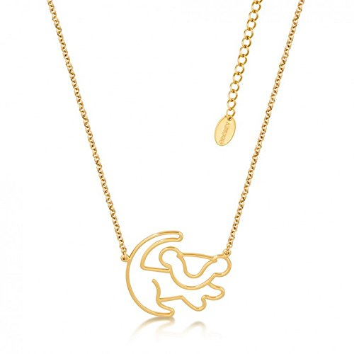 Disney Couture Kingdom Mini Lion King Gold-Plated Simba Outline Necklace