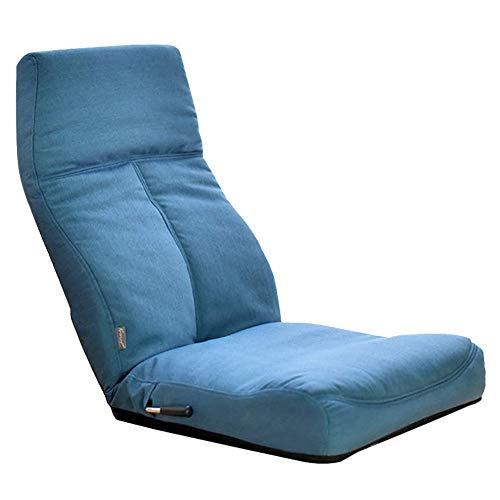 ZHFZD opvouwbare zitzak, verstelbare vloerstoel, speelstoel, vrijetijdsklapstoel (kleur: blauw) Size blauw
