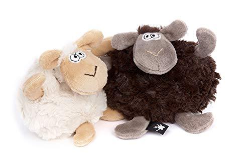 sigikid BEASTS, Kuscheltier für Erwachsene und Kinder, Schafe, In Good & Bad Days, Beasts Town, Schwarz/Weiß, 42370, 9x18x8 cm