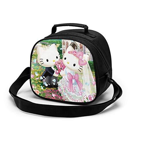 Hello Kitty - Bolsa para almuerzos para niños y niñas, para hacer comida fría o fresca para la escuela y viajes, sin BPA, apta para alimentos reutilizable