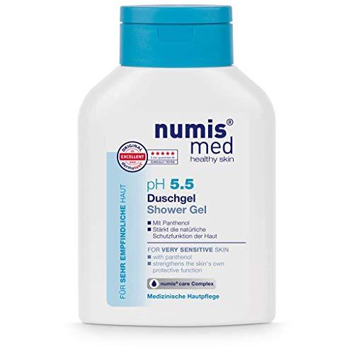 numis med Duschgel ph 5.5 - Hautberuhigendes Shower Gel für sehr empfindliche & sensible Haut - vegane Hautpflege ohne Silikone, Parabene & Mineralöl - Showergel (1x 200 ml)