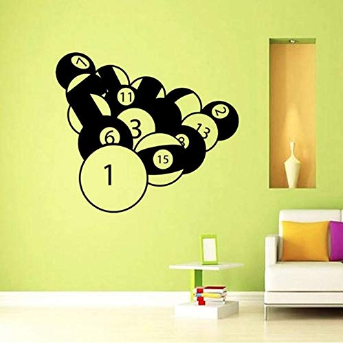 Yssyss Billiards Sticker Snooker Decal Poster Vinyl Suitable Wall Decal Decorative Mural 102 * 90 Cm