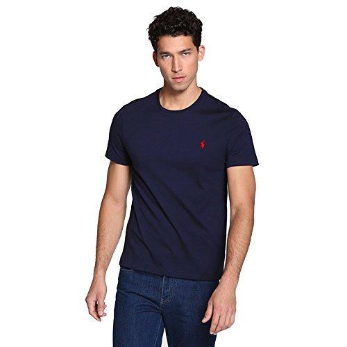 Ralph Lauren, Maglietta da uomo, vestibilità personalizzabile Navy S