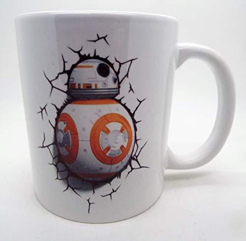 BB8 Breaking Through The Mug Star Wars Parody - Taza de cerámica de 325 ml