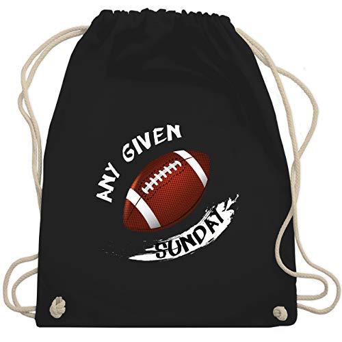 Shirtracer American Football - Any Given Sunday - Unisize - Schwarz - Statement - WM110 - Turnbeutel und Stoffbeutel aus Bio-Baumwolle