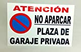 Marina Signboards Cartel Metal 30x20 cm No Aparcar...