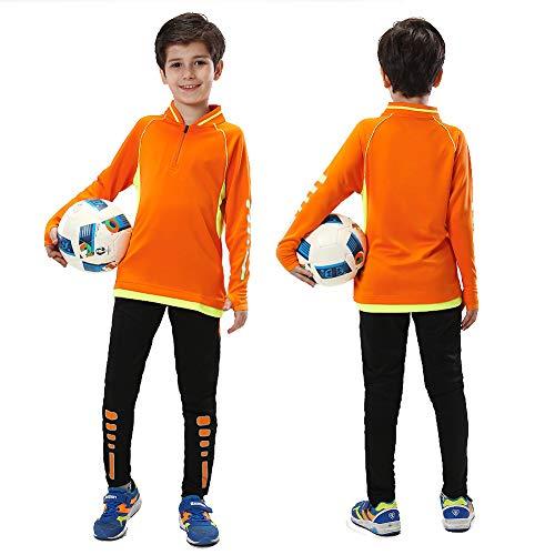 Kids Voetbal pak Winter Voetbal Sportkleding Training Outdoor Warm Jas Set Fitness Sportjas Lange mouwen Uniform voor Jongen
