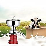 WYFX Separador de Crema de Leche Separador centrífugo eléctrico de Crema de Leche Fresca 50L / H 110 / 220V para Cabras Leche de Vaca u Otros Productos lácteos Cuerpo de Metal Máquina de desnatad