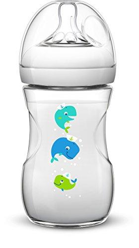 Philips AVENT SCF627/25 Anti-Kolik Naturnah-Flasche, 260ml, 1er Pack, Wal, transparent