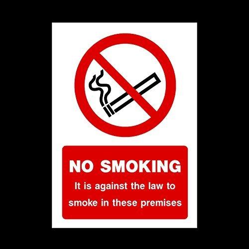 Niet roken - Het is tegen de wet om te roken op deze premier Sticker teken - Multi Pack korting (1, 2, 5, 10, 25, 50, 100) - Geen roken/gebouwen/verhuur/hotel