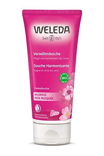 WELEDA vildrose vanlig dusch, naturlig kosmetik vårdsdusch, 1 x 200 ml, rosa