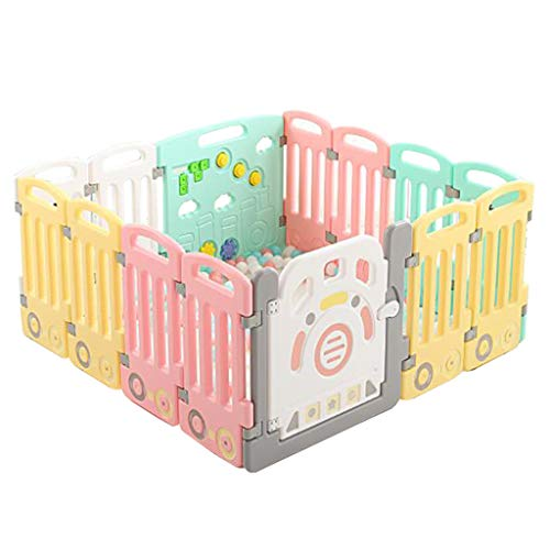 Best Buy! Baby Fence, Plastic Baby Playpen, Baby Safety Activity Center Detachable Portable Home Ind...