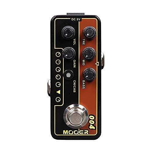 Festnight MOOER MICRO PREAMP Serie 004 Day Tripper 60 UK Twang Digital Preamp Vorverstärker Gitarre Effektpedal True Bypass