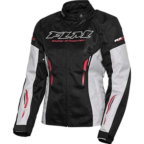 FLM Motorradjacke mit Protektoren Motorrad Jacke Sommer Sports Damen Textiljacke 6.0 grau L, Sportler, Polyester