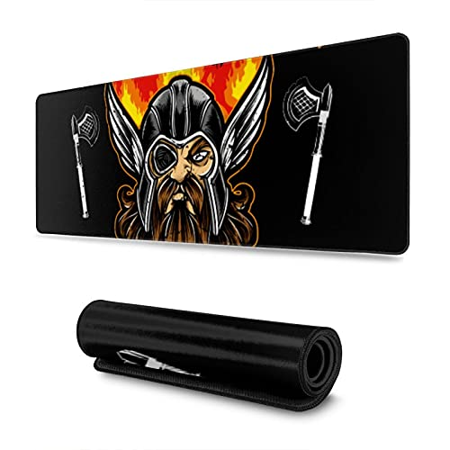 "Gaming Mouse Pad,Odin Valhalla Vikings ,Long Extended Surface for Desktop Pc Computer Work Productivity Or Video Games,Laser Accuracy for Fast Responsiveness,11.8"" X 31.5"""