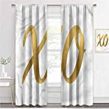 painting-home Blackout Curtains Xo, Classical Vintage Design Light Reducing Window Coverings Keep Room Warm Or Cool W72 x L72 Inch