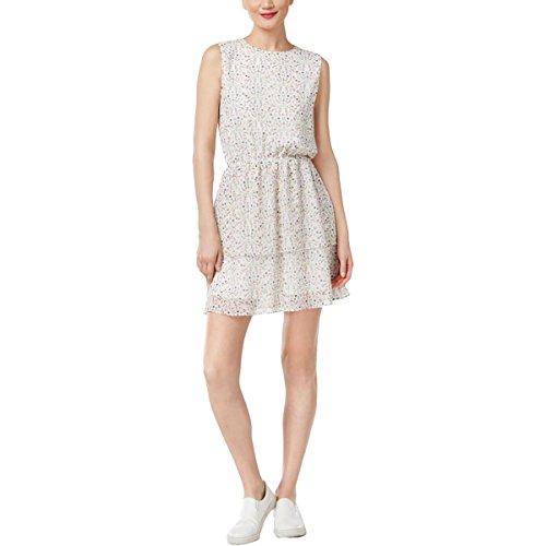 Cynthia Rowley Womens Tiered Peasant Dress, White, X-Small