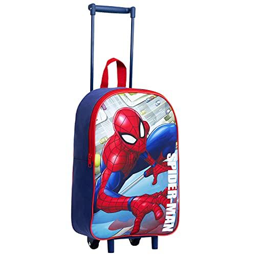 Marvel Valigia per Bambini, Trolley Bagaglio a Mano di Spiderman, Valigia Viaggio Leggera con Maniglia Estensibile