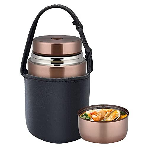 AmazeFan Termo de 800 ml, recipiente de acero inoxidable 316, para alimentos, alimentos...