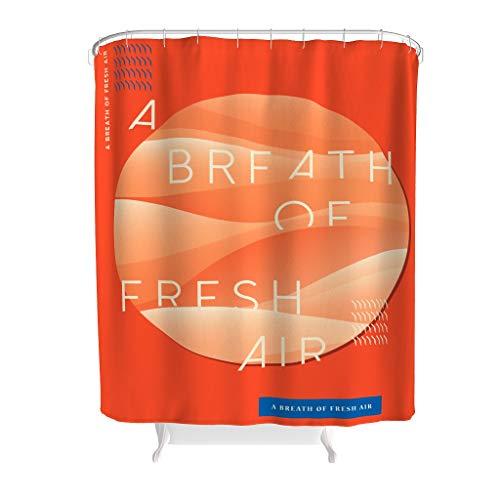 Ainiteey tekst brief grafische combinatie vochtbestendig gedempte tinten gordijn- en badmat set met haken voor de badkamer Transparant bovenstuk polyester
