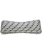 Corderie Italiane 006000419 touw, gevlochten, 4 mm, 20 m, wit met blauw bord