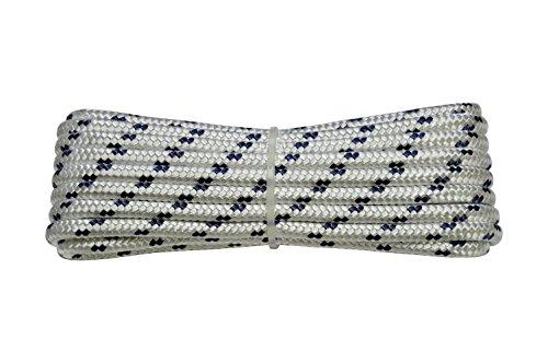 Corderie Italiane 006000426 Corda Nautica Intrecciata, 4 mm, 30 m, Bianco con Segnalino Blu
