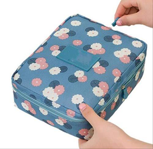 Rangement pour Sac de Maquillage pour Femmes Se précipite en Nylon Floral Zipper New Travel Wash Pouch K