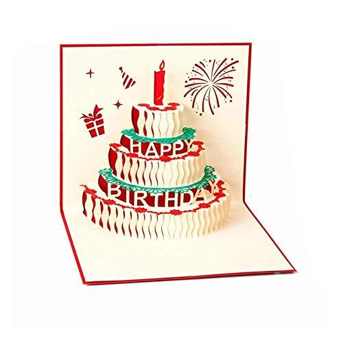 YAOJII 3D Pop Up verjaardagskaarten Creatieve verjaardagskaart
