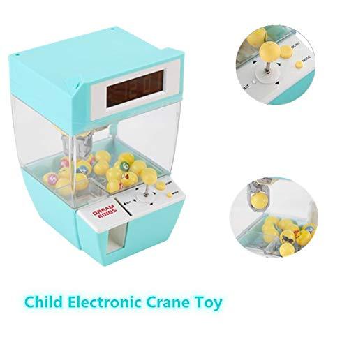 Zunate Greifmaschine,Greifmaschine für Kinder mit 4 Stücke Spielzeugmünzen und 16 Stück Bällen | Batteriebetrieben | Greifmaschine Spiel mit Timer | Mini Spielautomat, Geschenk für Kinder (Grün)