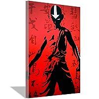 アバターラストエアベンダーポスターアニメ壁画壁画ギフト20x30cm(8x12inch)フレームレス壁画3