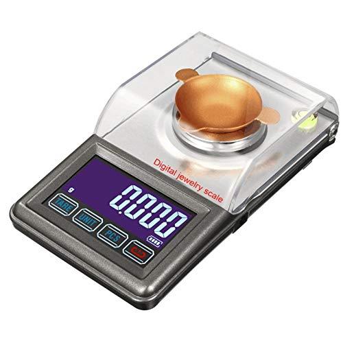 Taschenwaage Feinwaage Digitalwaage Waage 50 G / 0,001 G Digitale Präzisions-Milligramm-Waage Mini Electronic Balance Powder Usb-Waage Touchscreen Lcd Goldschmuck Karatwaage-50 G X 0,001 G