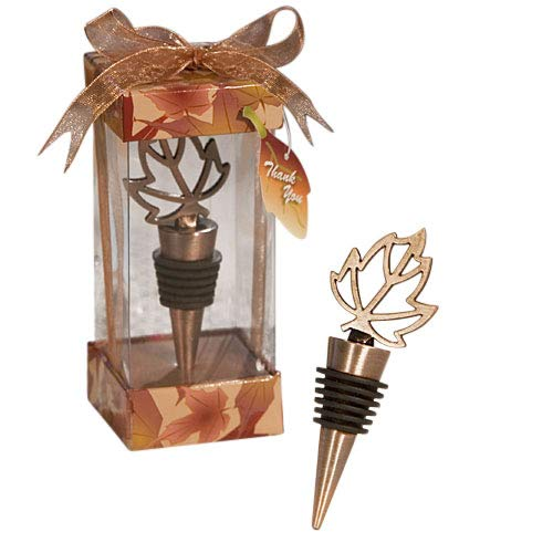 Autumn Themed Wine Bottle Stoppers (Set of 36) - Wedding Party Favors