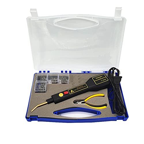 ER827QI Haoshan 50W Handy Plastic Soldder, Coche Parachoques Reparación Máquina Soldadura Herramienta de reparación para Piezas de automóviles y reparación de plástico (Color : Brown)