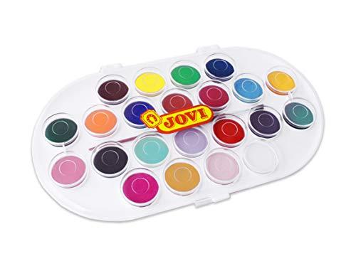 Jovi - Acuarelas, estuche con 22 pastillas de 30 mm, colores surtidos (830/22)