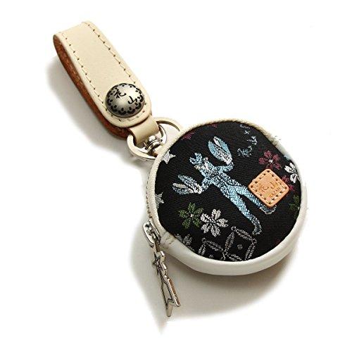 花山[かざん] バルタン金襴 レザーコインケース/和柄/本革/WV-8K-BARU--ホワイト--FREE