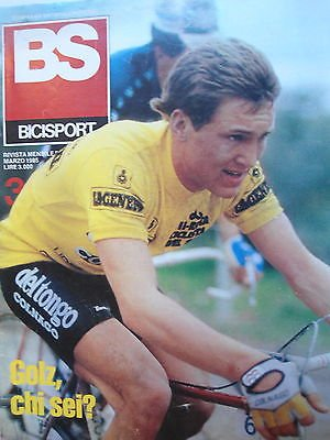 BS Bicisport n.3 mar 1985 Poster Kelly -Golz-Moser-Salute in bicicletta [SR]