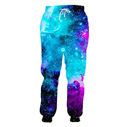 Pantalon de Sport Homme Pantalon de Ciel étoilé 3D imprimant Le Ciel étoilé de Streetwear pour Les Pantalons pour Hommes Starry Sky XXL