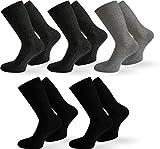normani 10 Paar Diabetiker Gesundheitssocken Herren Socken ohne Gummi Farbe Dunkel-Sortiert Größe 43/46