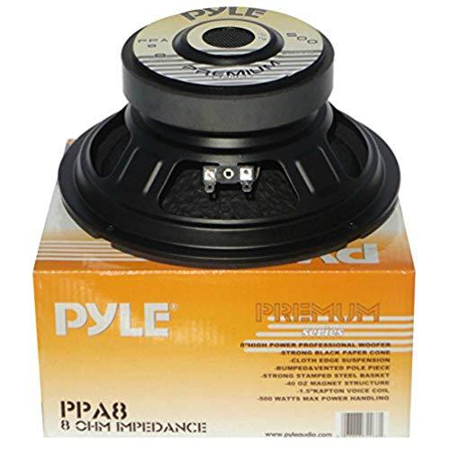 1 WOOFER PYLE PPA8 altoparlante diffusore medio basso 20,00 cm 200 mm 8  200 watt rms 500 watt max impedenza 8 ohm per casa feste disco party, 1 pezzo