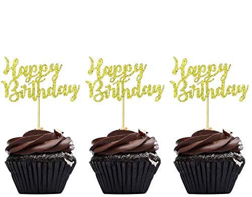 Speed Sell EU 36 Stücke Geburtstag Kuchen Topper Happy Birthday Cupcake Pick für Party Dekoration