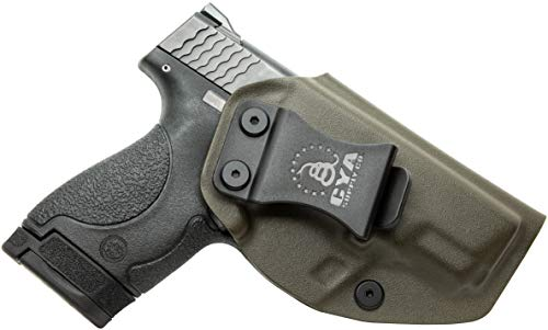CYA Supply Co. Fits S&W M&P 9/40 Shield M2.0 Inside Waistband Holster Concealed Carry IWB Veteran Owned Company (OD Green, 053- S&W M&P 9/40 Shield M2.0)
