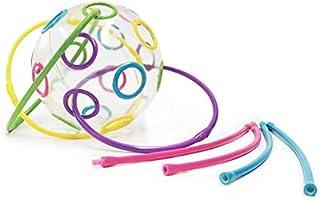 Edushape Kids Thread-O Ball Fidget Toy - Fun Sensory Ball Improves Color Recognition, Motor Skills, & Dexterity