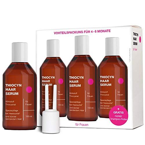 3x Thiocyn Haarserum für Frauen • 3x150 ml Vorteilspaket • dermatest geprüfte Spezialpflege bei Haarausfall • hilft bei dünnem Haar in Wechseljahren • MADE IN GERMANY